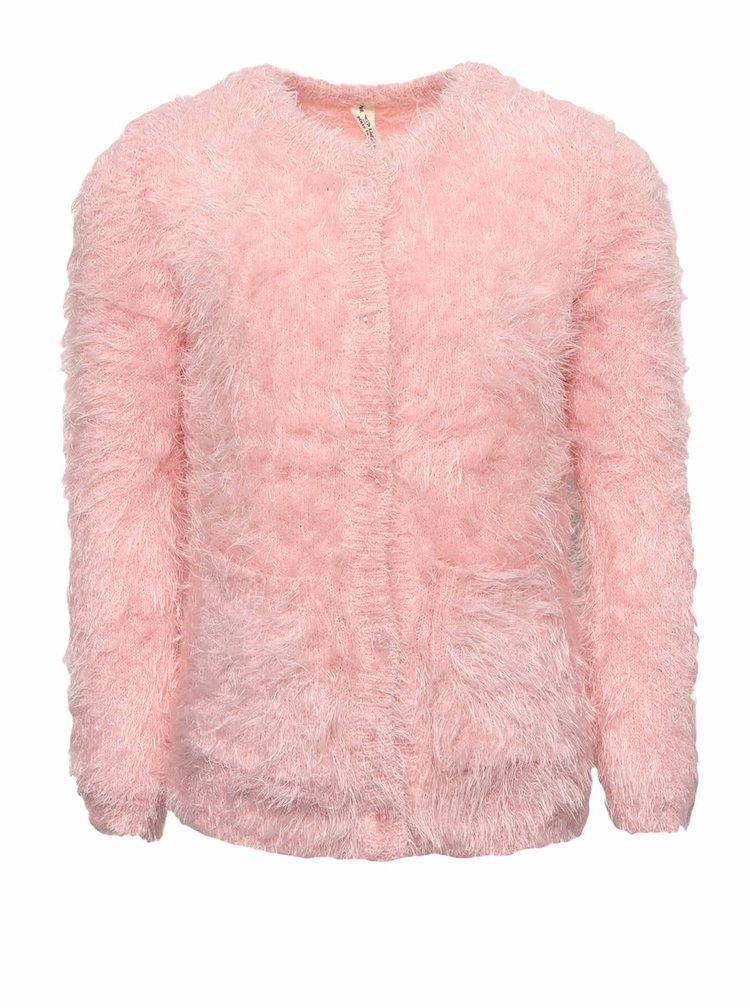 Světle růžový holčičí plyšový svetr 5.10.15.