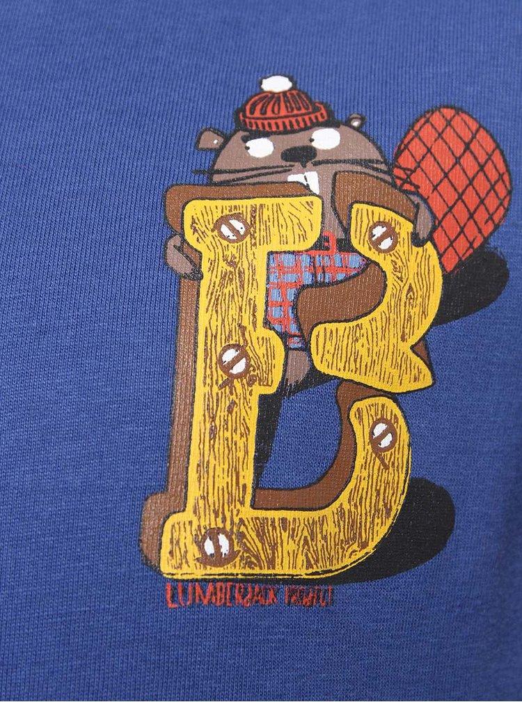 Tmavě modré klučičí triko s červenými lemy 5.10.15.