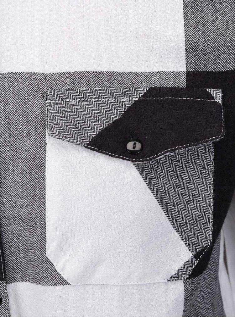 Šedo-krémová kostkovaná košile Noisy May Erik