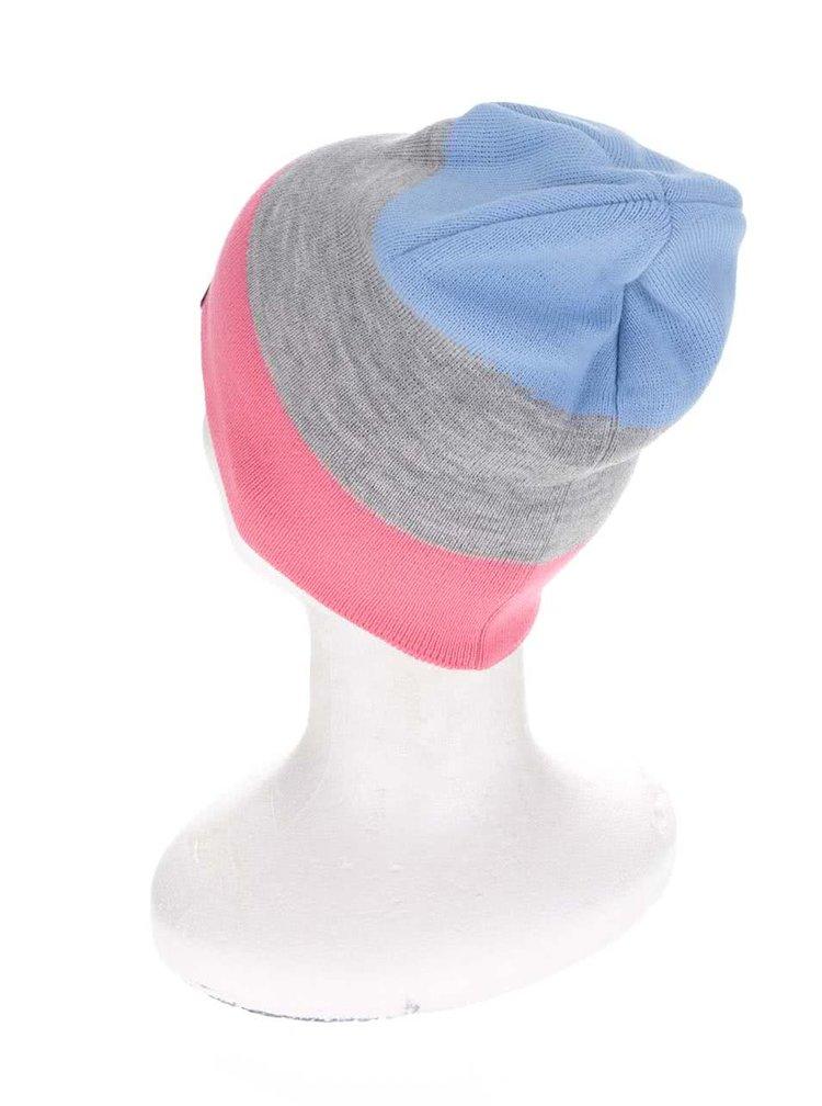 Růžovo-šedá dámská pruhovaná čepice Horsefeathers Flo