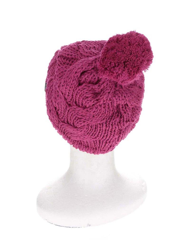 Tmavoružová dámska pletená čiapka Horsefeathers Devon