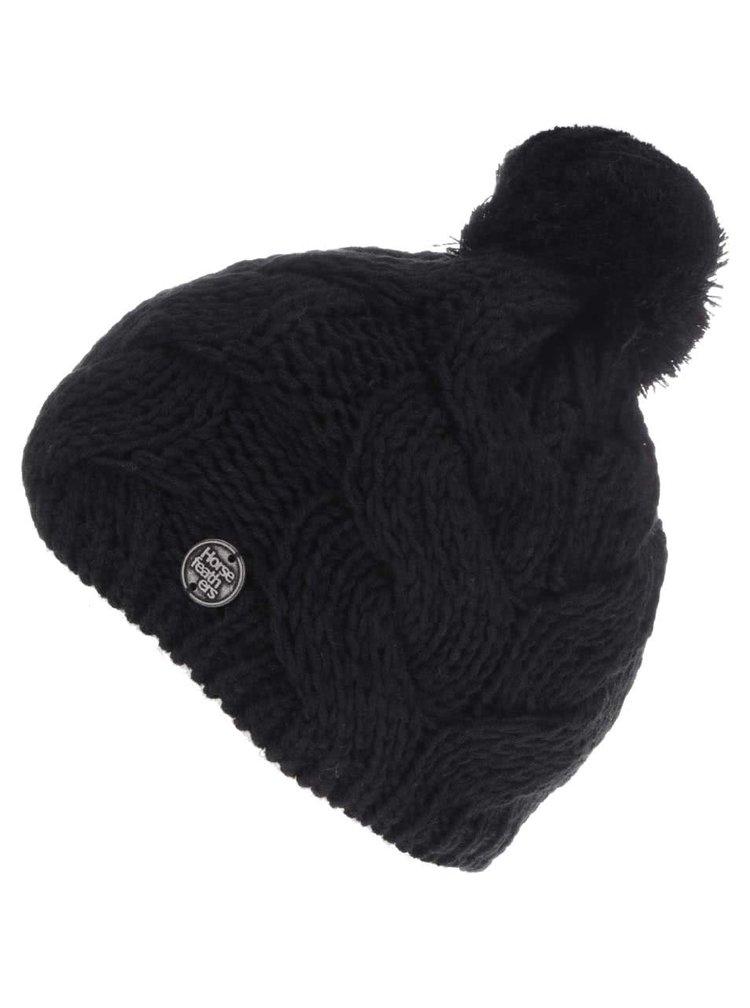 Čierna dámska pletená čiapka Horsefeathers Devon