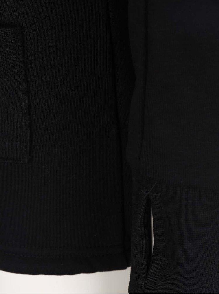 Čierna dámska mikina na zips s bodkami Horsefeathers Ariane