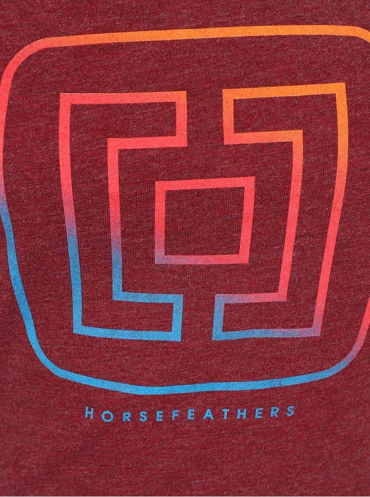 Tricou vișiniu Horsefeathers Aurora cu print