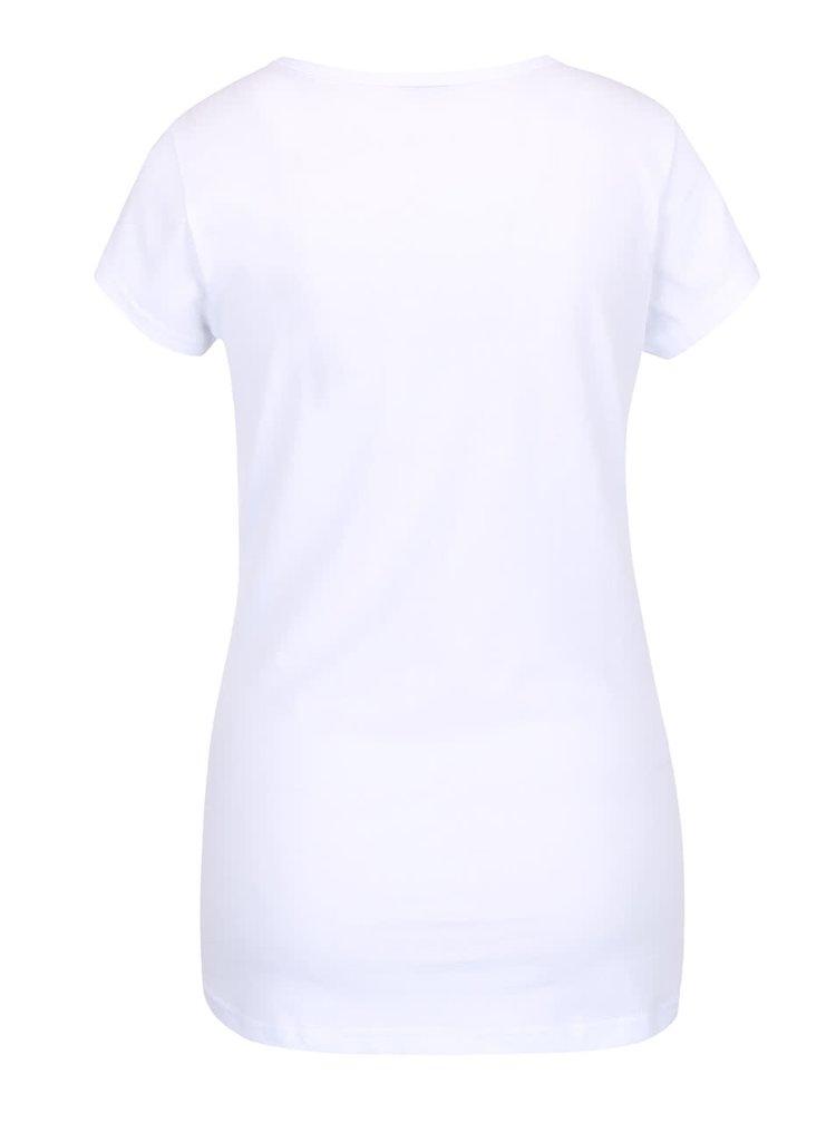 Tricou alb Horsefeathers Polar Bear cu print