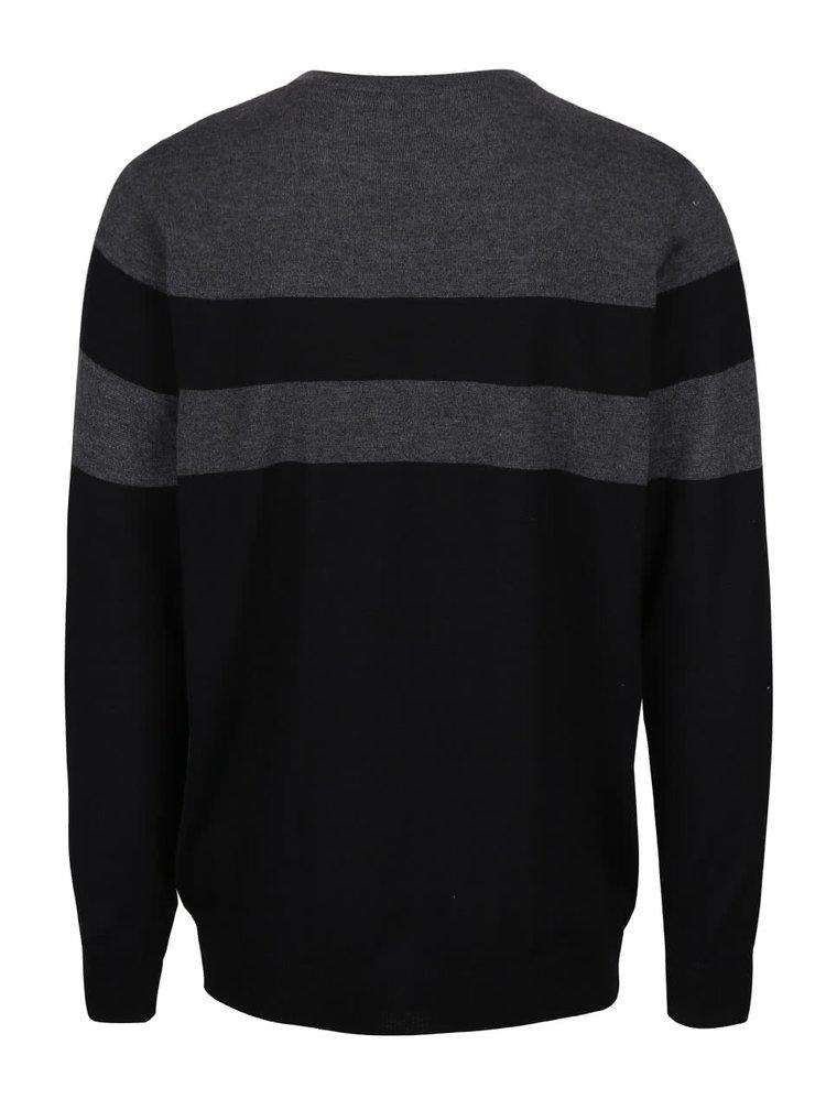 Sivo-čierny pánsky sveter s pruhmi Horsefeathers Walton