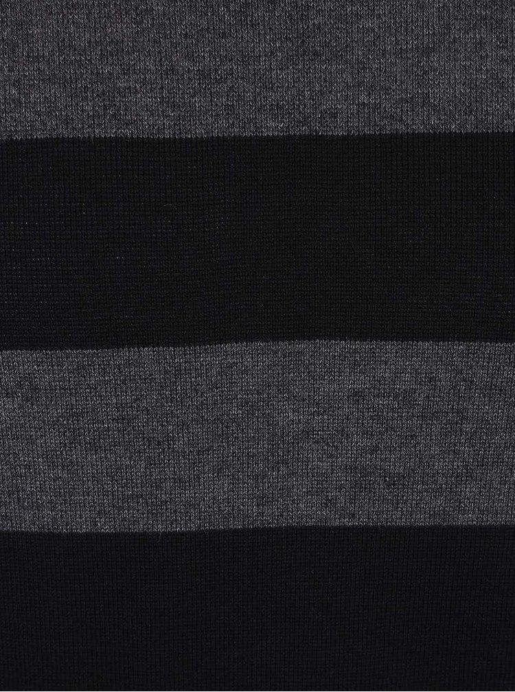 Šedo-černý pánský svetr s pruhy Horsefeathers Walton