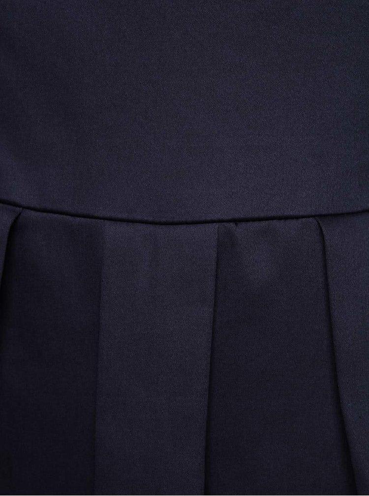 Tmavomodré šaty s krémovým lemom Dolly & Dotty Daphne