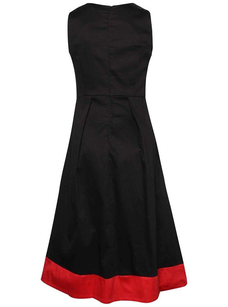 Černé šaty s červeným lemem Dolly & Dotty Daphne