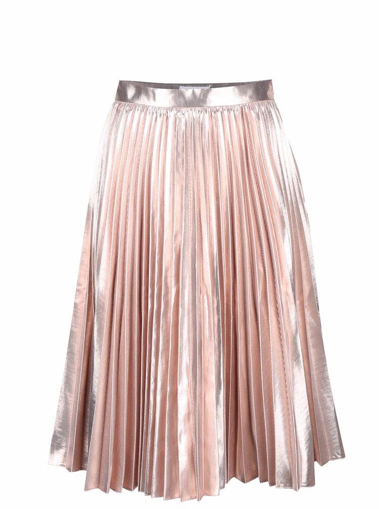 Ružová metalická plisovaná sukňa Closet