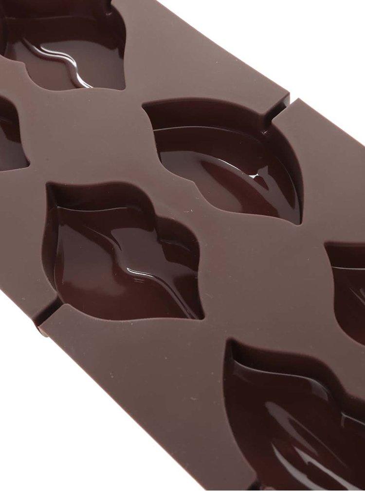 Hnědá silikonová forma na výrobu lízatek ve tvaru rtů Kitchen Craft