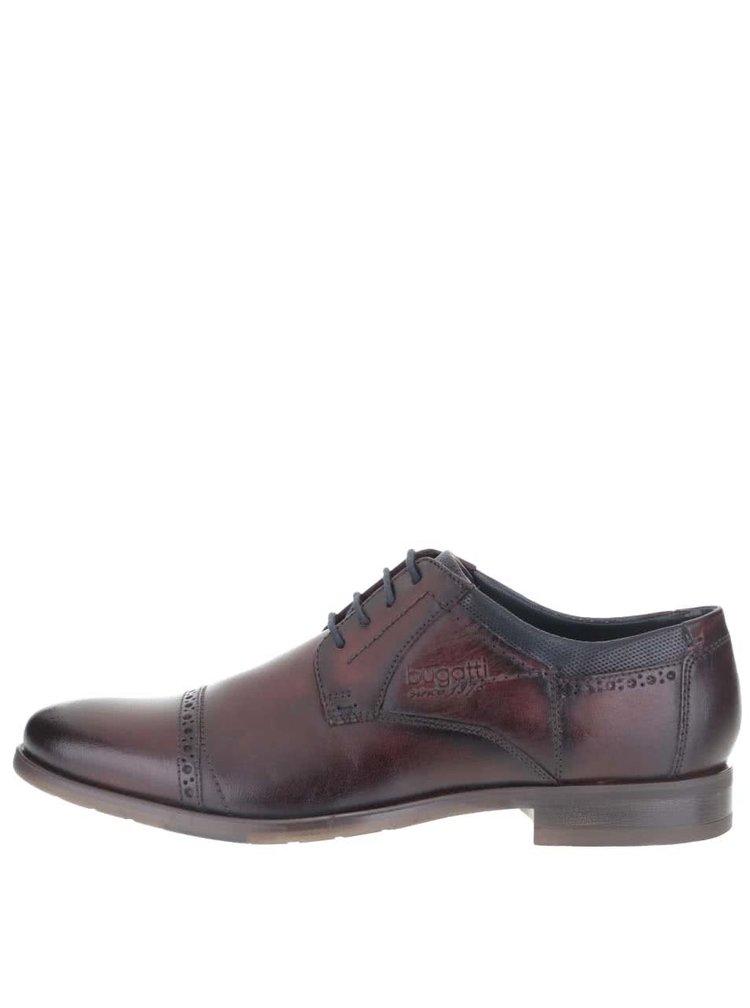 Pantofi bugatti Licio barbatesti maro din piele