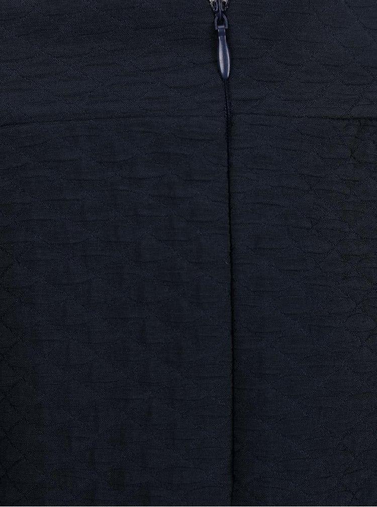 Fustă bleumarin VILA Mounta cu pliuri