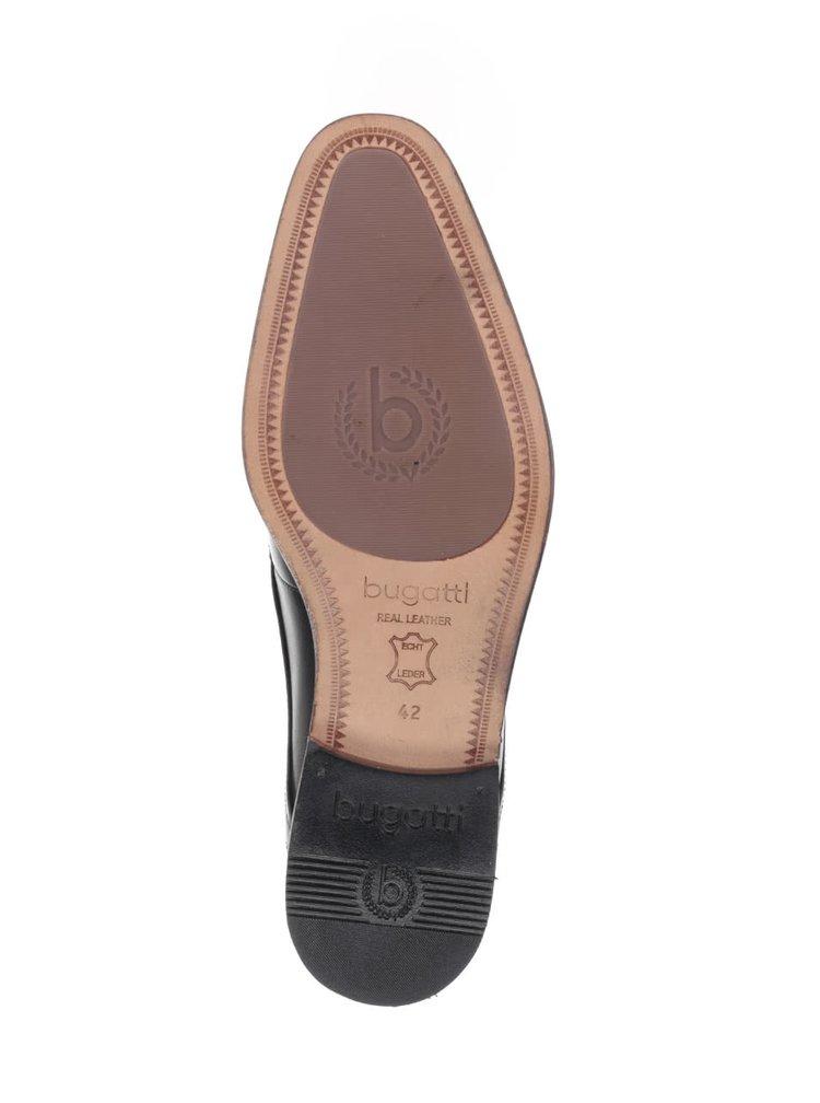 Černé pánské kožené kotníkové boty bugatti Viktor