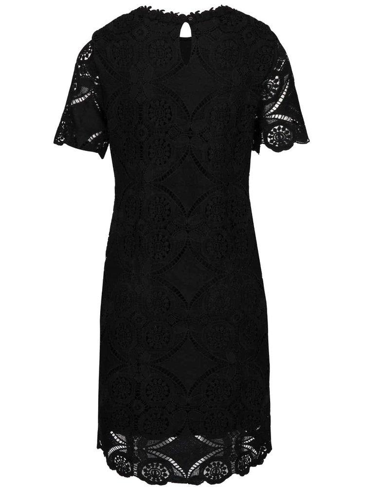 Černé krajkové šaty VILA Rasmi