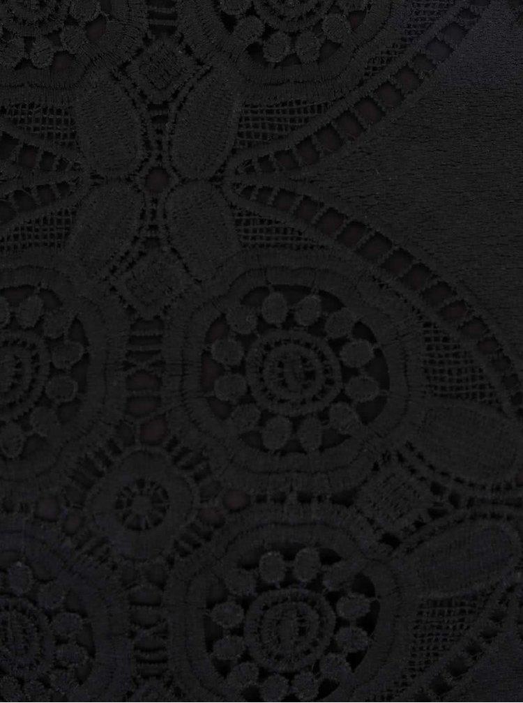 Čierne čipkované šaty VILA Rasmi