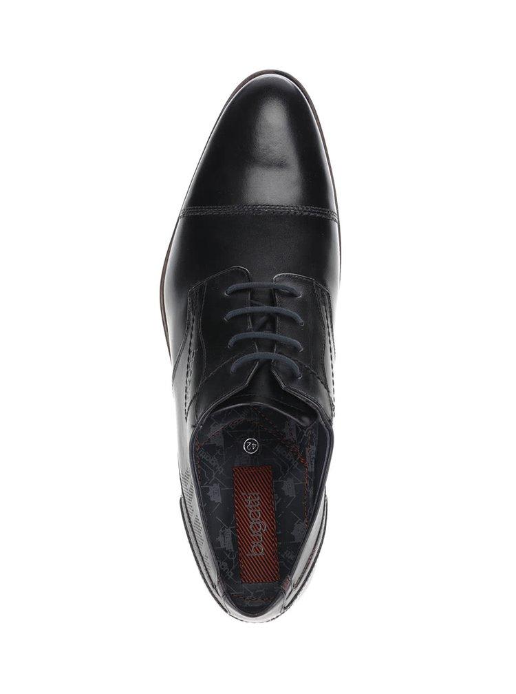 Pantofi bugatti Luano bărbătești negri din piele
