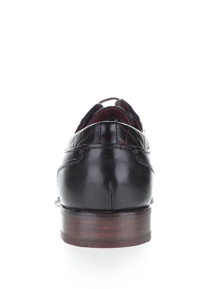 Černé pánské kožené polobotky bugatti Bettino LC