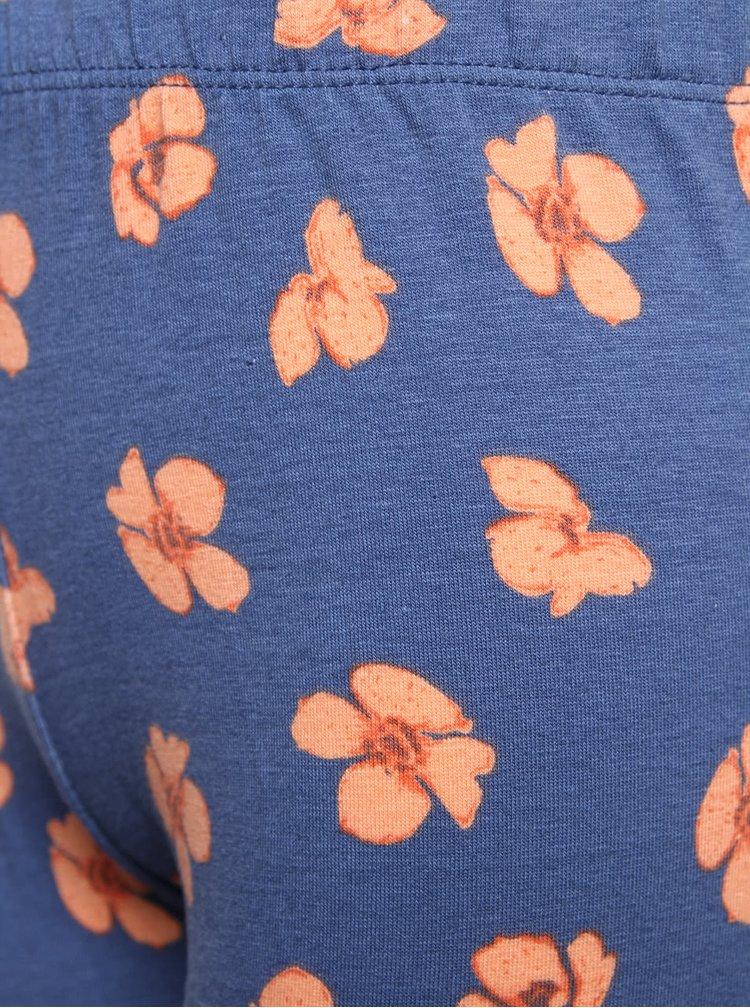 Modré dievčenské legíny s motívom kvetov 5.10.15.