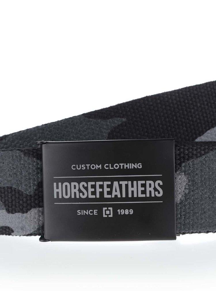 Černý pánský pásek s maskáčovým vzorem Horsefeathers Harm