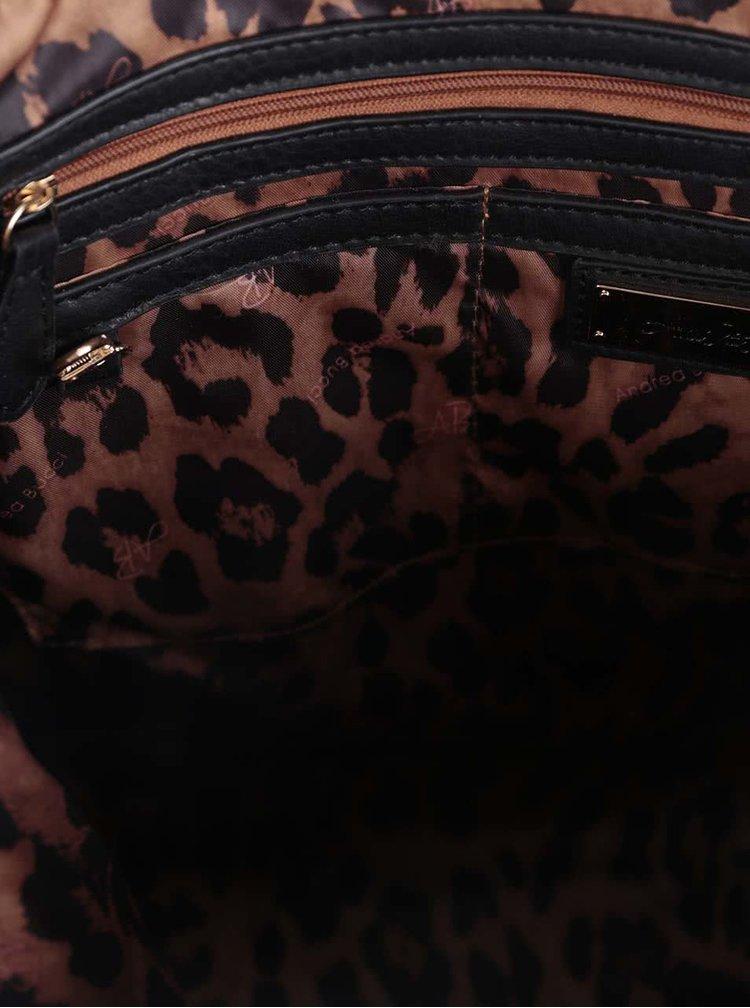 Geantă neagră Andrea Bucci cu buzunar exterior