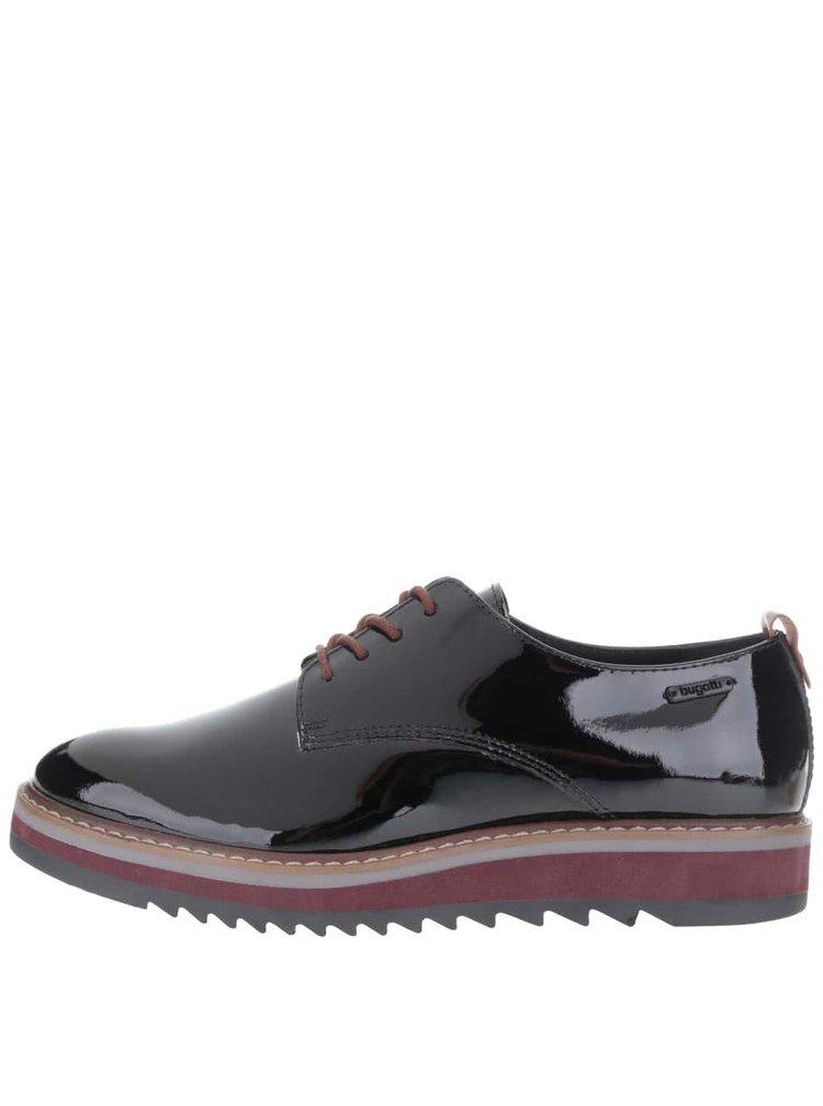 Pantofi negri de damă bugatti Fee din piele