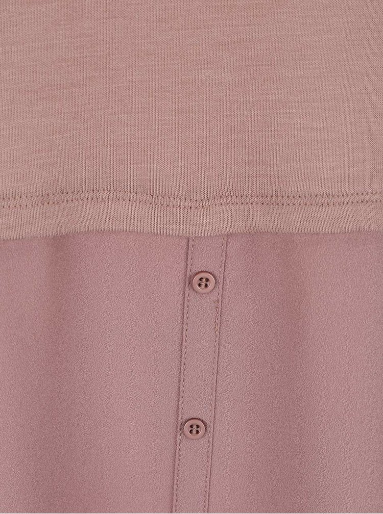 Bluza roz VILA Kaluka cu aspect 2in1