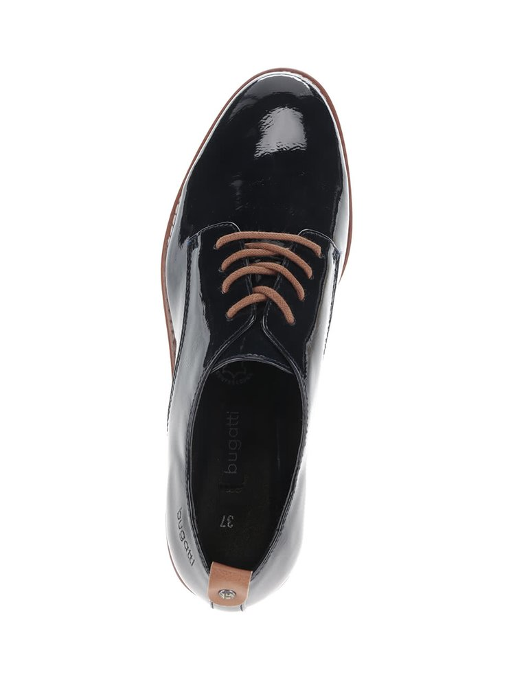 Pantofi bluemarin bugatti Davida cu aspect lăcuit pentru femei