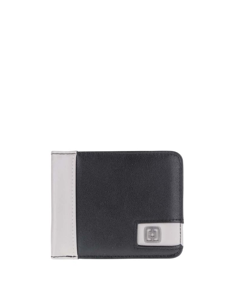 Čierna pánska peňaženka so sivým pruhom Horsefeathers Owen