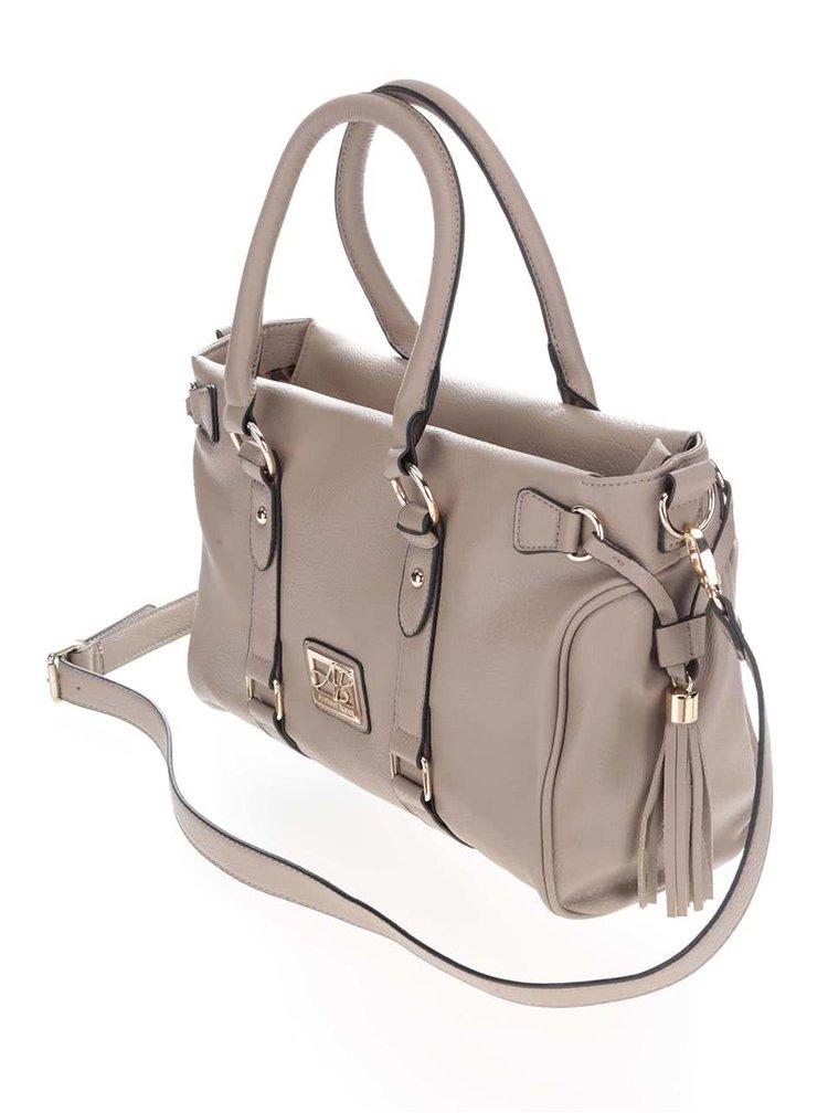 Béžová kabelka s detailmi v zlatej farbe Andrea Bucci