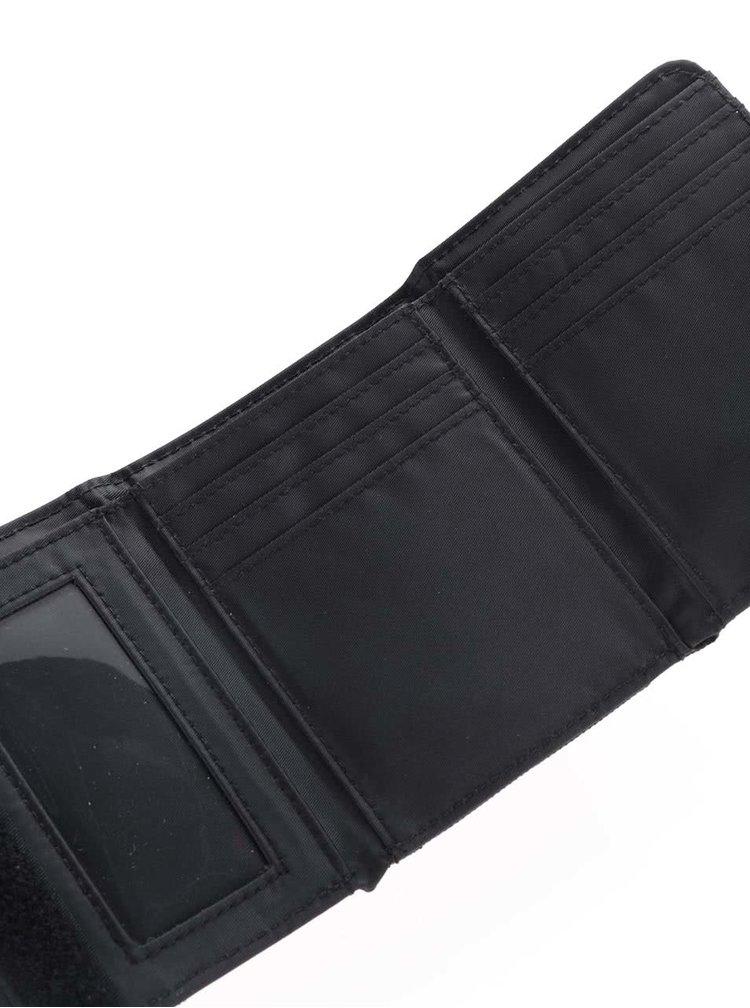Čierna pánska peňaženka s modrým pruhom Horsefeathers Waller