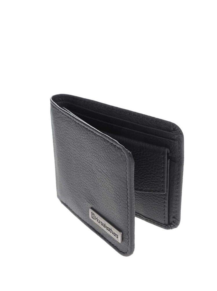 Černá pánská kožená peněženka Horsefeathers Brad