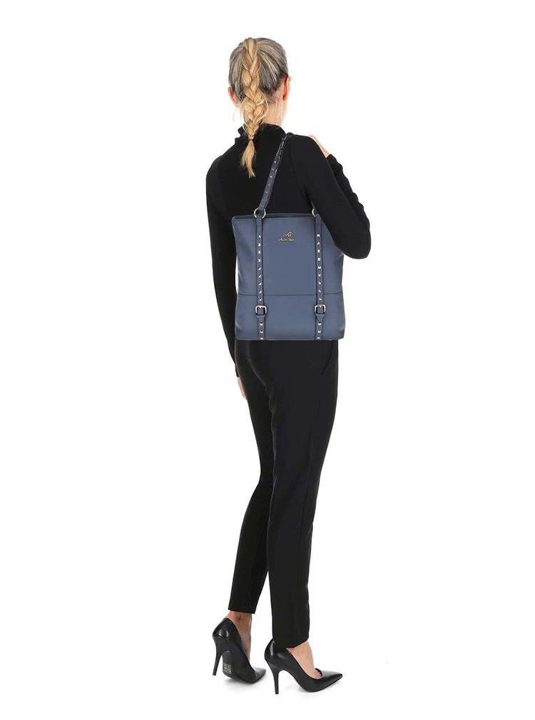 Modrý shopper s aplikáciou v zlatej farbe Andrea Bucci