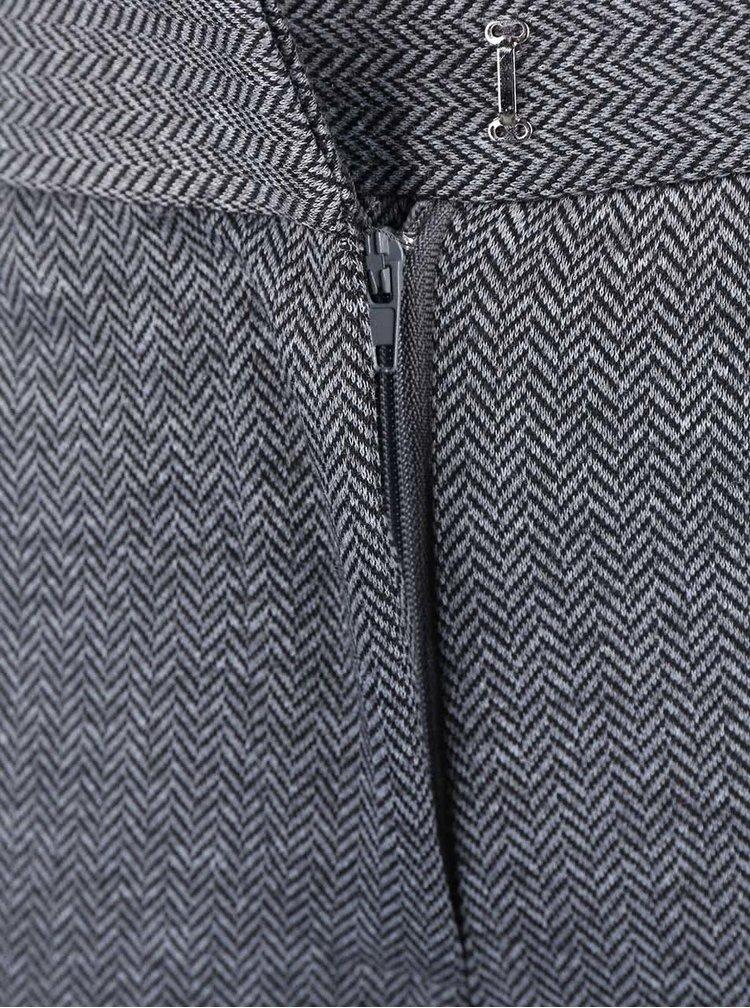Sivé vzorované nohavice VILA Pinny