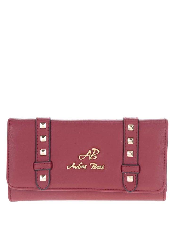 Červená peněženka s aplikací ve zlaté barvě Andrea Bucci