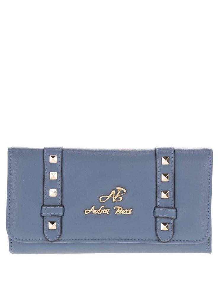 Modrá peňaženka s aplikáciou v zlatej farbe Andrea Bucci