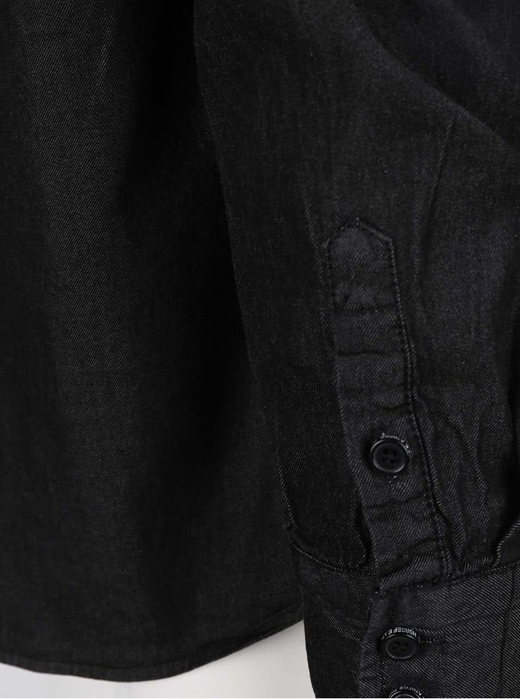 Cămașă neagră Horsefeathers Rodney din bumbac