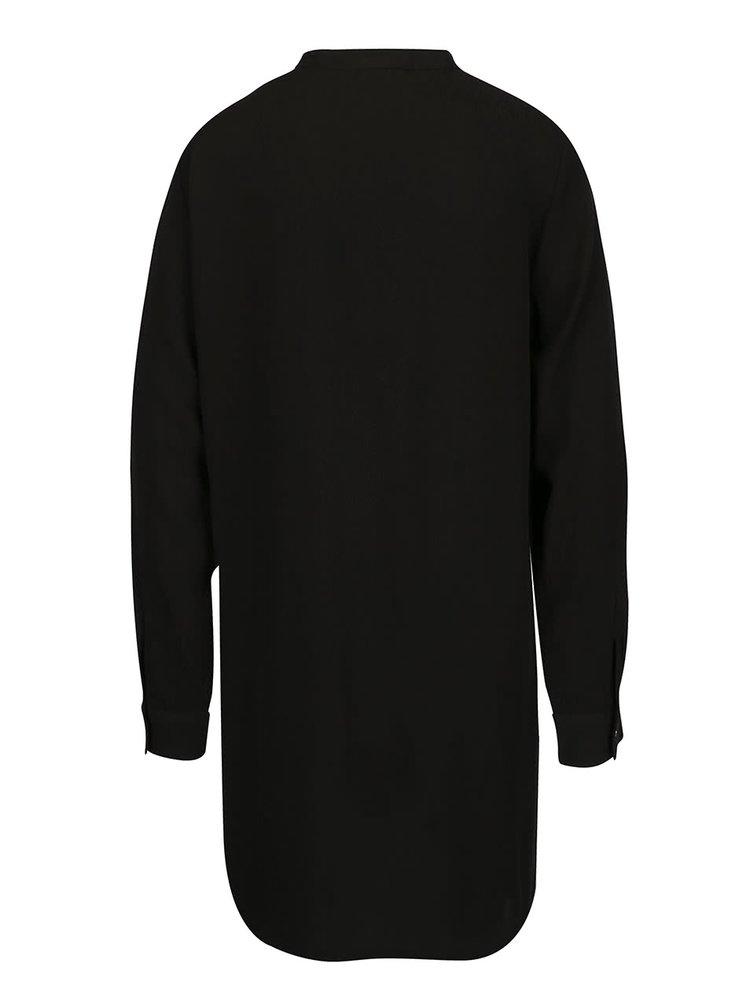 Čierne šaty s vreckami a dlhým rukávom VILA Button