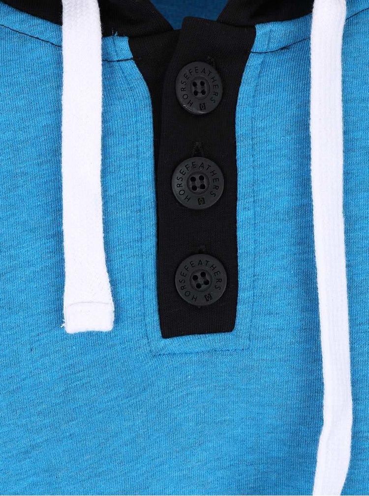 Černo-modrá pánská mikina s kapsou Horsefeathers Radcliff