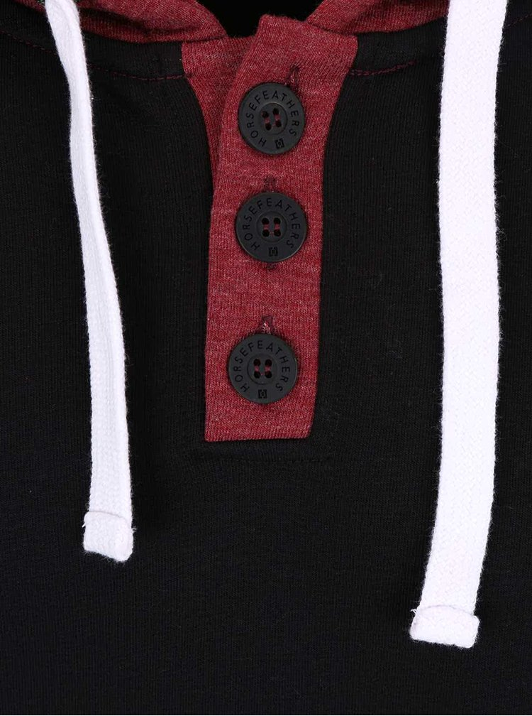 Vínovo-černá pánská mikina s kapsou Horsefeathers Radcliff