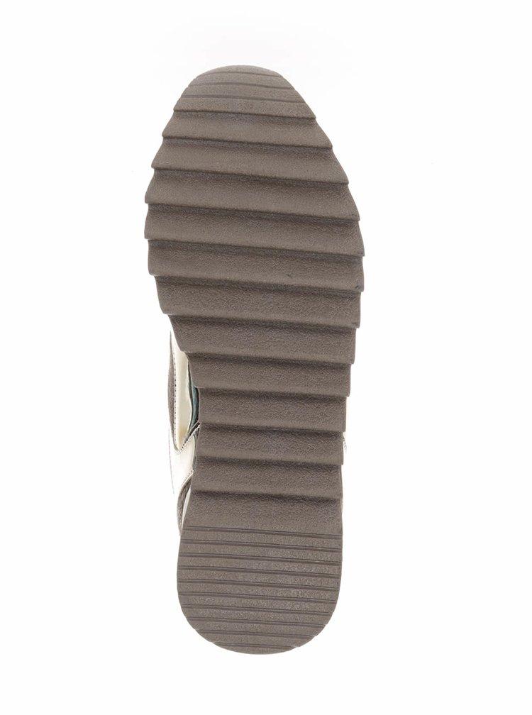 Světle hnědé dámské tenisky s lesklými detaily Bassed