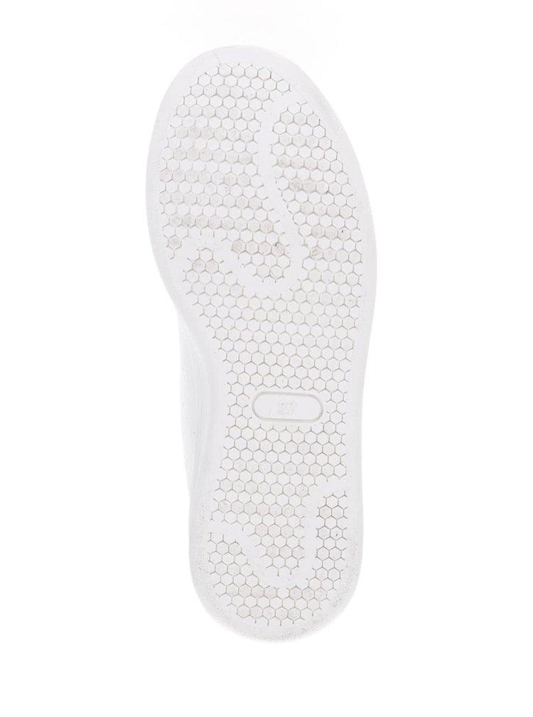 Bílé dámské tenisky s černými lesklými detaily Bassed