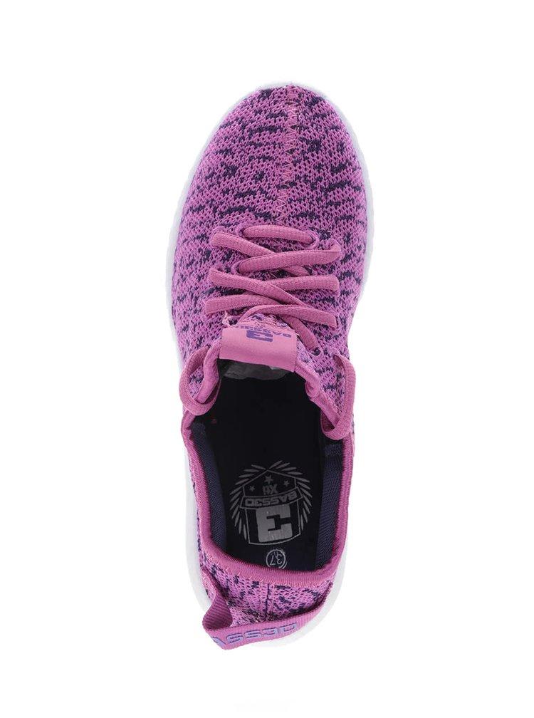 Pantofi sport mov cu roz Bassed