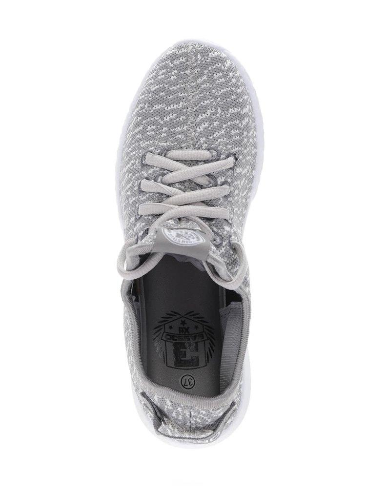 Pantofi sport alb cu gri Bassed
