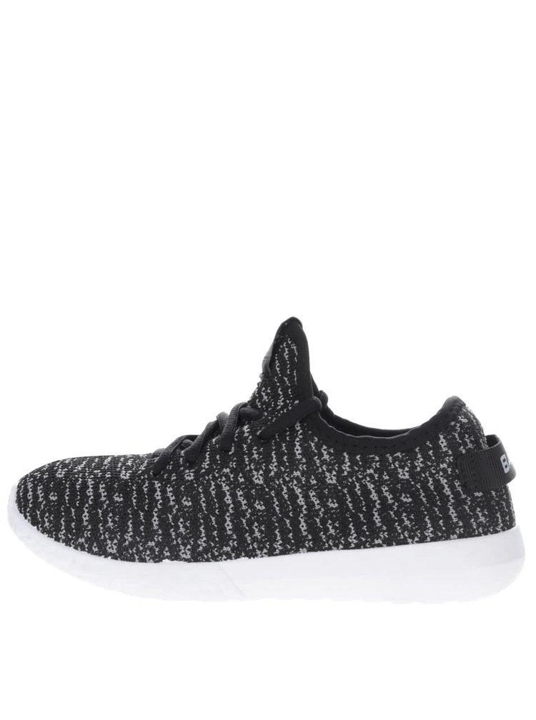 Pantofi sport gri cu negru Bassed