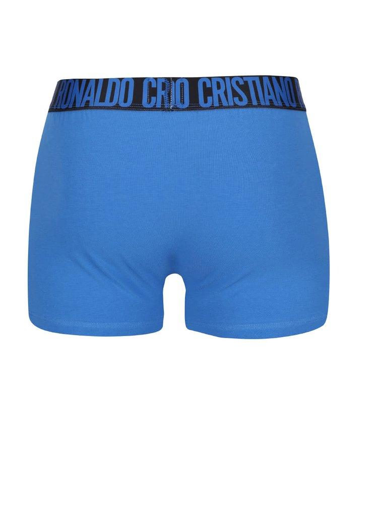 Súprava dvoch boxeriek v čiernej a modrej farbe CR7