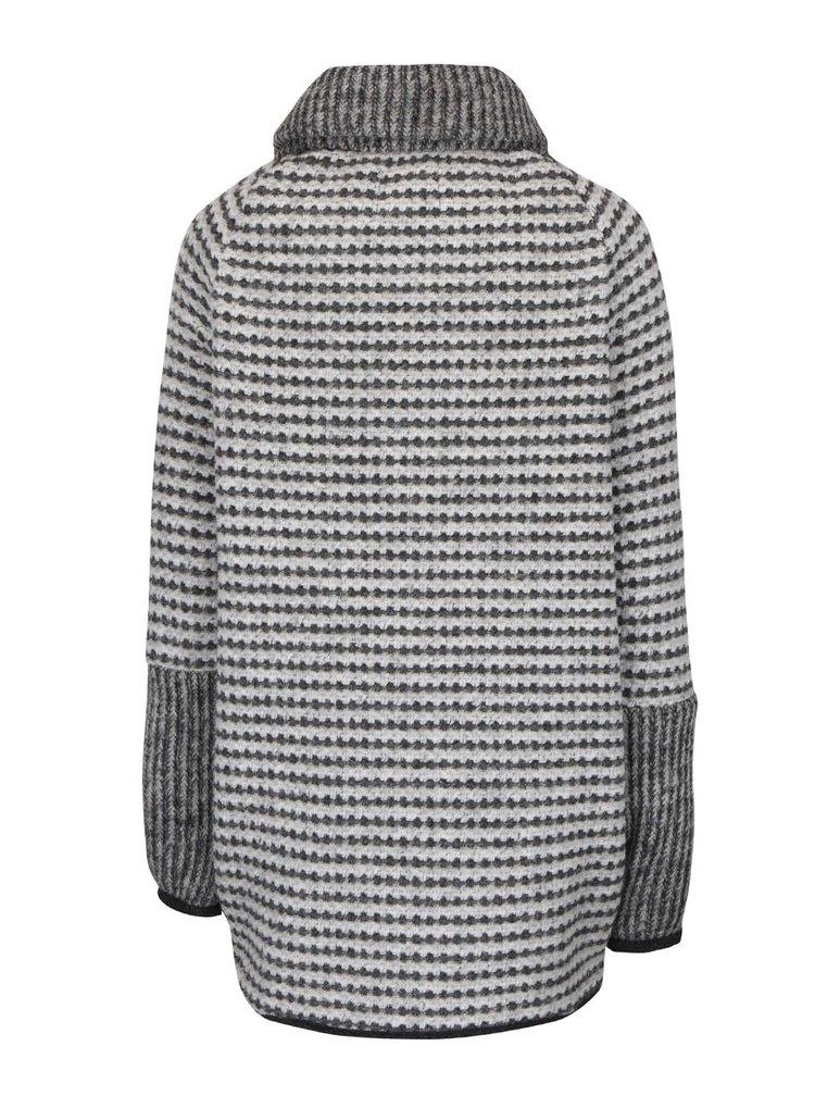 Šedý dámský kabát bugatti