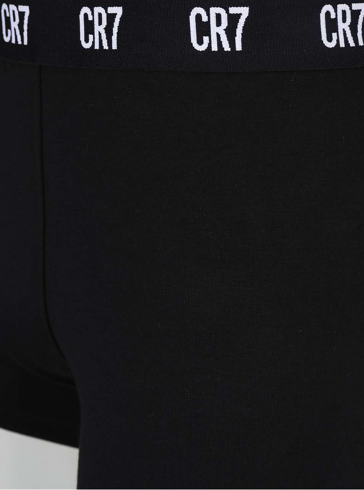 Set de 3 perechi de boxeri gri&albi&negri CR7