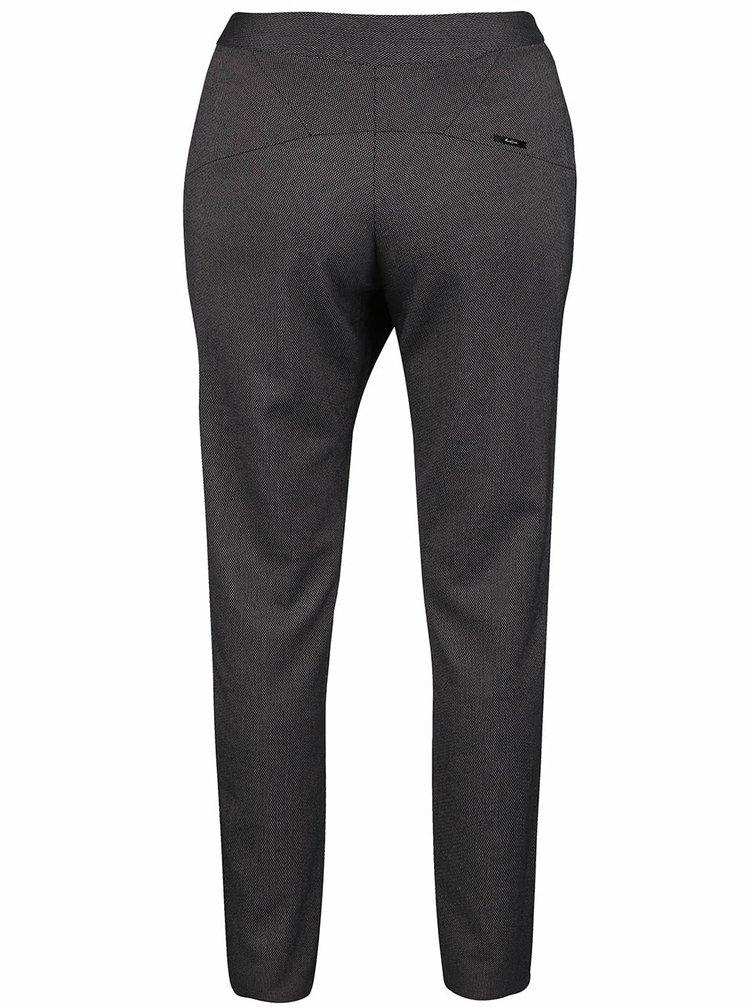 Fialovo-čierne vzorované nohavice Skunkfunk Deba