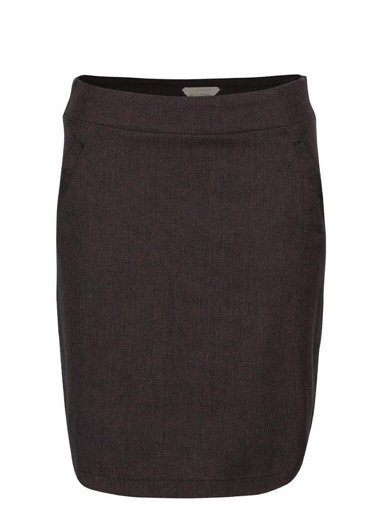 Fialovo-čierna sukňa s vreckami Skunkfunk Sahar